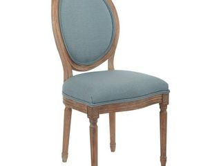 OSP Home Furnishings lillian Oval Back Chair in Klein Sea Brushed Frame