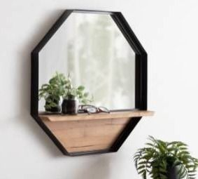 Kate and laurel owing octagon wall shelf