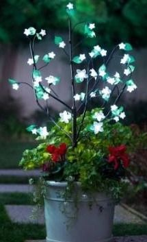 white cherry blossom bush with led lights