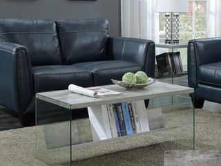 Porch   Den Urqhuart Wood  Glass Coffee Table Retail 136 49