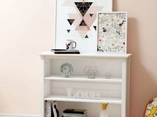 Taylor and olive snowberry tall bookcase  white