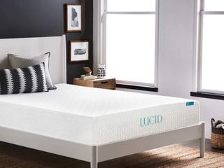 lUCID Comfort Collection 10 inch luxury Gel Memory Foam Mattress Retail 199 99
