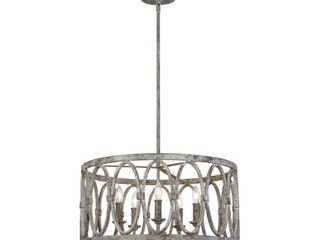 Feiss F3222 5 Deep Abyss Patrice 5 light 21  Wide Outdoor Taper Candle Chandelier