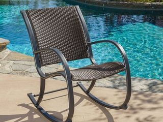 Gracie s Outdoor Wicker Rocking Chair by Christopher Knight Home Retail 187 99