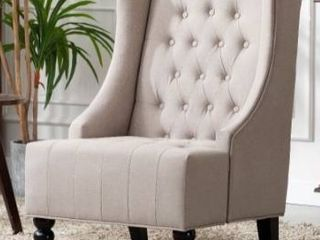 Ryan diamond button tufted wingback accent chair