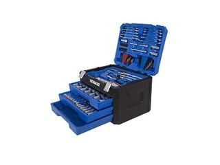 Kobalt 227 Piece Standard  SAE  and Metric Polished Chrome Mechanic s Tool Set