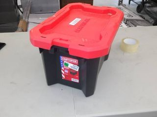 Craftsman 5 Gallon Storage Container   Damaged   Broken latches