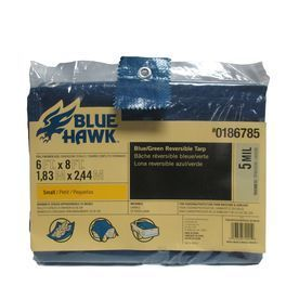 Blue Hawk 6 ft x 8 ft Polyethylene Tarp