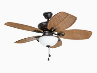 Harbor Breeze Cedar Shoals 44 in Bronze led Indoor outdoor Ceiling Fan   Not Inspected