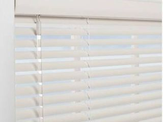 Project Source Cordless White Mini blinds Common 35   X 64  Actual 34 5