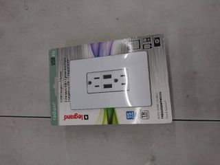4 legrand Radiant Outlet With Two 3 1 Amp Usb Chargers
