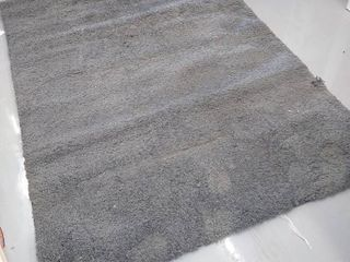 82  x 60    Area Rug   Grey   Used