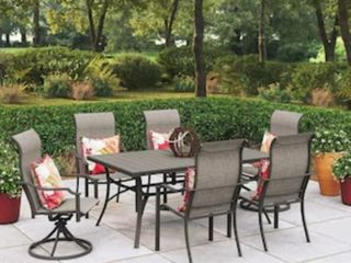 Style Selections 6 Piece Brown Frame Patio Set CHAIRS ONlY with Tan