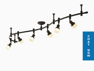 6 light 96 in Bronze Dimmable led Flexible Track light With Frosted White Glass   Not Inspected