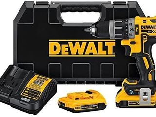 DEWAlT 20V MAX XR Hammer Drill Kit  Tool Connect Bluetooth  DCD797D2