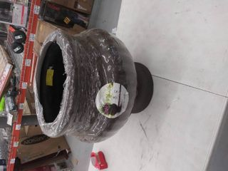 allen   roth 13 in W x 18 5 in H light Rust Fiberglass Planter
