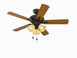 Harbor Breeze lansing 42 in Aged Bronze Incandescent Indoor Ceiling Fan  5 Blade