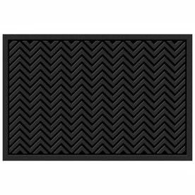 Mohawk Home Black Rectangular Door Mat  Common  48 in x 72 in  Actual  48 in x 72 in  DAMAGED