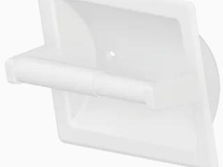 6 Project Source Seton Recessed Spring loaded Toilet Paper Holder White