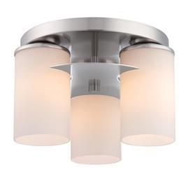 Style Selections 11 3 in W Brushed Nickel Ceiling Flush Mount