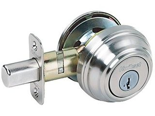 Kwikset Satin Nickel Metal Deadbolt   Not Inspected