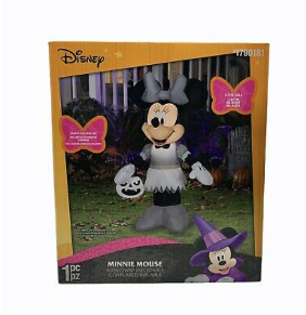 Disney 3 5 Ft Tall Minnie Mouse Not Inspected Halloween Blow Up Yard Decorations    Not Inspected