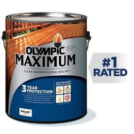Olympic Maximum 1 Gallon Clear Exterior Stain