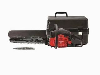 Craftsman 18in light Easy Start 2 Cycle low Vibration Gas Chainsaw W  Case S180