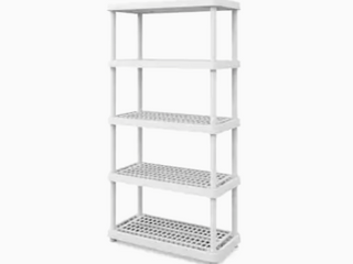 Keter   36  x 18  Storage Unit With 5 Tier Shelves   Not Inspected