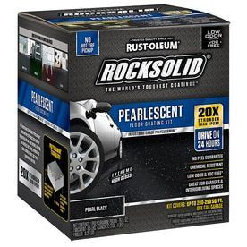 Pearl Black RockSolid Pearlescent Garage Floor Coating Kit  80 oz