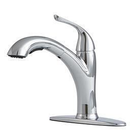Giagni Abete Polished Chrome 1 handle Deck Mount Pull out Kitchen Faucet