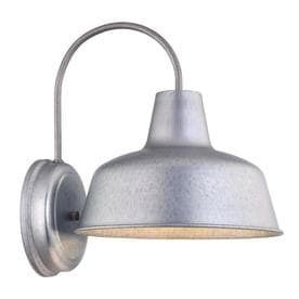 Portfolio Ellicott 13 12 in H Galvanized Dark Sky Outdoor Wall light