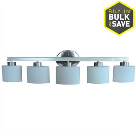 AllEN   ROTH Merington 5 light 37 5 in Brushed Nickel Vanity light Bar