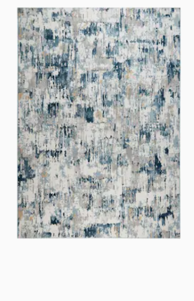 Premier Blue Rain Are Rug    Some Damage   7  8  x 10  1