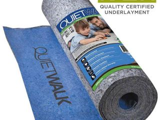 MP Global Products QuietWalk 100 Sq Ft Acoustical Underlayment with Built in Vapor Barrier for laminate Flooring