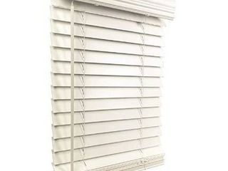 Cordless 2  fauxwood blind white 18 w x 60  d
