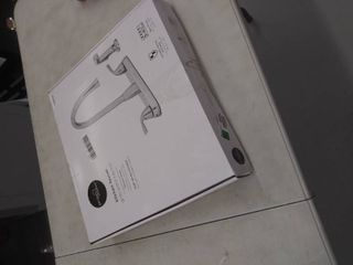 Project Source Hi arc Kitchen Faucet With Side Sprayer   Chrome   21 k822 psd