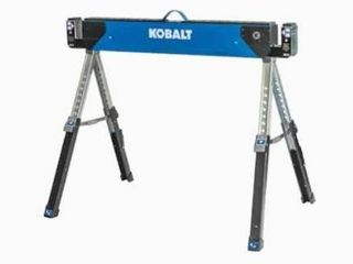 Kobalt 37 8 in W X 32 in H Adjustable Steel Saw Horse  1 100 lb Capacity