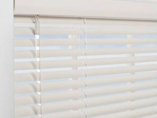 levolor 1 in White Vinyl Mini Blinds 52 in Act 51 5 in X 72 in Hott Deals 169142