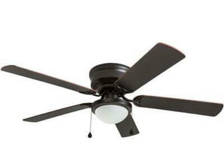 Harbor Breeze Armitage 52 in Bronze led Indoor Flush Mount Ceiling Fan With Kit