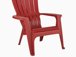 Red stackable Adirondack chair