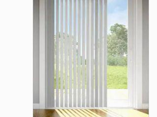 Evolor Vertical Blind S Curve Vanes Grey linen 84 inch Trim Go
