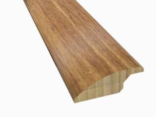 2 in x 72 in Rustic Brown Solid Wood Floor Reducer