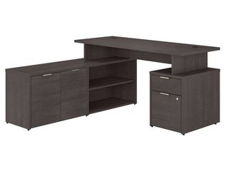 Jamestown 60W l Shaped Desk with Drawers by Bush Business Furniture  Retail 618 49