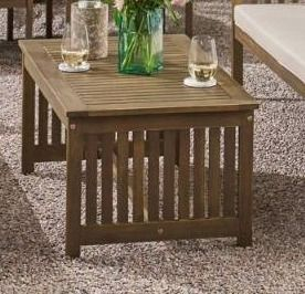 Carolina Outdoor Acacia console table by Christopher Knight Home  Retail 953 99