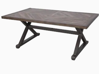 allen and Roth dining table  brown finish