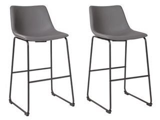 Signature Design by Ashley Centiar Tall Barstool Set of 2 Gray