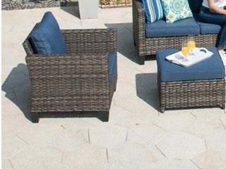 Ovios Patio Furniture Deeep Seat Two Corner sofa ends and one tea tableOutdoor Furniture 12 Piece Set  Retail 2255 98