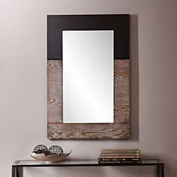Holly   Martin Wagars Mirror  Burnt Oak Black