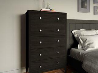 Porch   Den Dunder Black Pine 5 drawer Chest of Drawers  Retail 163 99